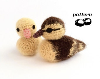 Duckling Crochet Pattern / Crochet Duckling Pattern / Chick / Baby Bird / Crochet Decoration / Easter Crochet Pattern