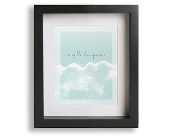 In My Life / The Beatles inspired song lyric art - minimalist, wedding gift, personalized anniversary, first dance, decor, romantic wall art