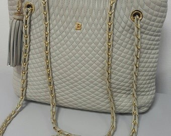 Bally quilted leather bag iconic item