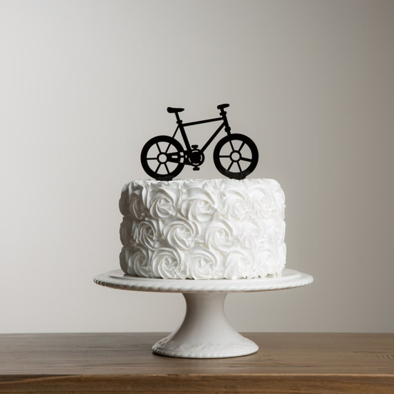 Funny Cake Decorations Uk : Bicycle Themed Birthday Party Cake Topper Fun Cake Decoration