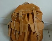 LARGE vintage ULTIMATE leather festival weekend rucksack backpack