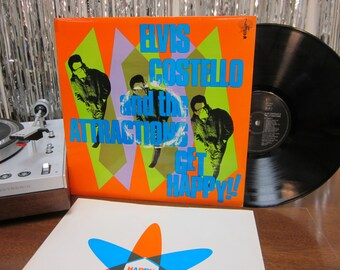 Elvis Costello & The Attractions - Get Happy! - Original UK Pressing - I Can't Stand Up For Falling Down
