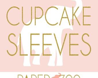 Printable Paper Zoo Cupcake Sleeves