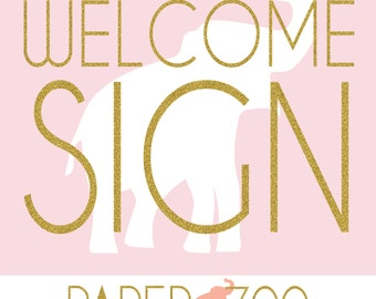 Printable Editable Paper Zoo Welcome Sign