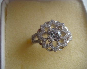 Exquisite Clear Topaz Ring