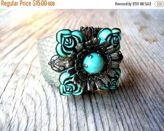 Valentines Day Sale Bohemian Cuff Bracelet - Hammered Cuff Bracelet - Bohemian Bracelet - Bohemian Jewelry - Boho Jewelry