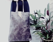 Giant taupe leather tote