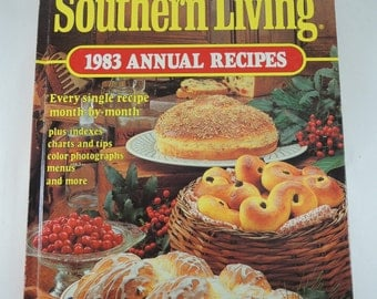 Vintage 1983 Southern Living Annual Recipes Cookbook, Retro Cookbook, Southern Style Recipes, Foodie Gift, Classic American Recipes