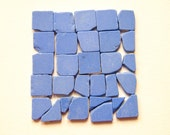 Matching Blue Sea Pottery Tile Shards ,Small Beach Pottery Squares,Mosaic/Mixed Media/Craft Supplies