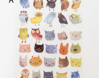Owls Animal Offset Printing Iron On Transfer Hot Flocking Tape Sticker Plate Backing Painting