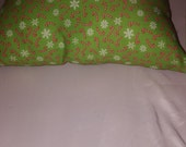 Small Green Candy Cane and Snowflake Decorative Pillows