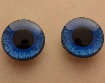OOAK Dark blue Handpainted Blythe doll eyechips set. realistic, shining, unique, glowing, metallic