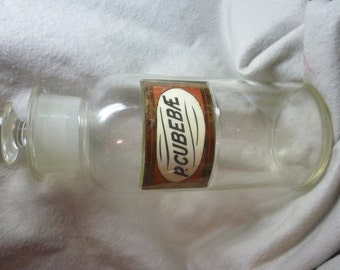 Antique Cubebae Pepper Apothecary Jar