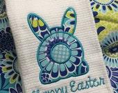 Easter Tea Towel - Easter Decorations - Bunny Towels - Tea Towels - Holiday Tea Towels - Kitchen Linens - Easter Dish Towel - Kitchen Towels