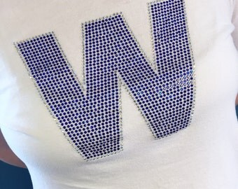 FLY THE W - Cubs Win Rhinestone T-Shirt