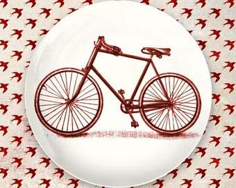 Red bike melamine plate