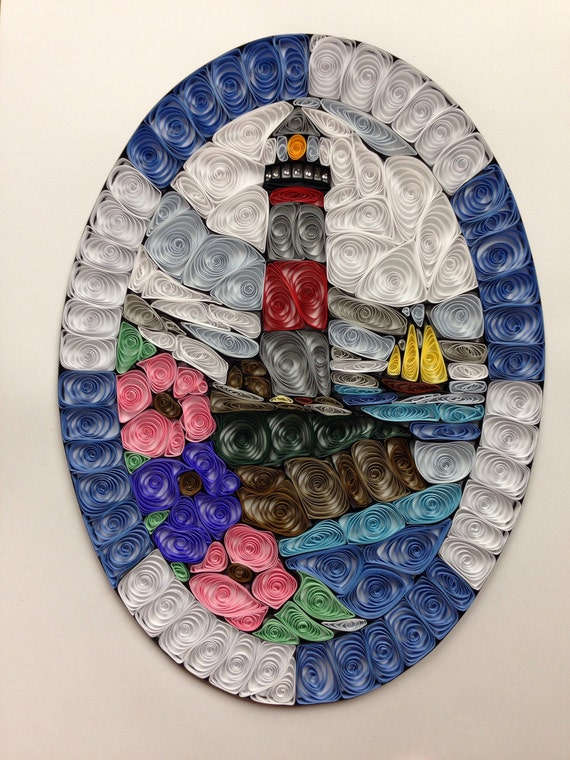 Items similar to Quilled, quilling, lighthouse, paper art ...