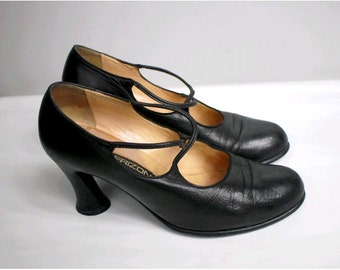 MAUD FRIZON  pumps us7 fr38black leather