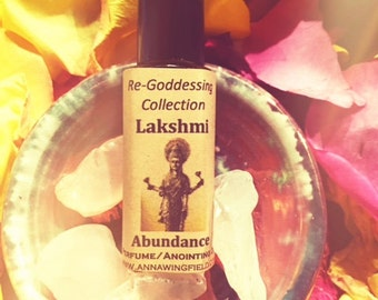 Lakshmi Perfume/Anointing Oil, for Abundance  (in 1/4oz glass roll-on)