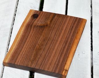 Black Walnut live edge cutting board, serving board