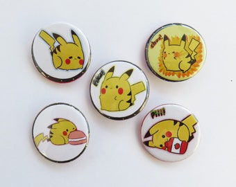 Assorted Pikachu Buttons