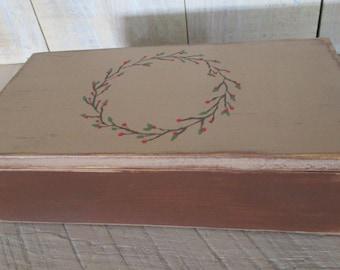 Handmade Small Box - Brown and Tan, Glasses Case, Checkbook Case