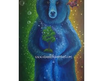 Ursa Major - Bear PRINT of original painting