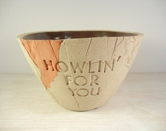 Howlin' For You - The Black Keys - Clay Bowl / Pottery Bowl / Ceramic Bowl