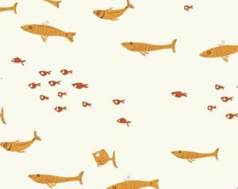 Swim Class in Orange - Mendocino by Heather Ross