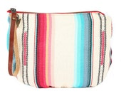 Tulum Jaya Moon Clutch -Handmade Bohemian Fabric & Leather -Environmentally Conscious- purse/clutch/pouch/hand bag/tote