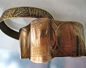Chicago Worlds Fair Brass Bracelet, Century of Progress, Two Souvenir Cuff Pair, 1933 and 1934