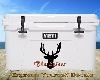 Deer Buck Heat Yeti Cooler Vinyl Decal Sticker