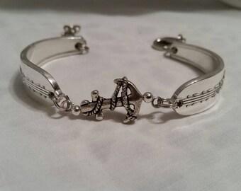 Spoon Bracelet, Silverware Jewelry, Spoon Jewelry, Vintage, Anchor