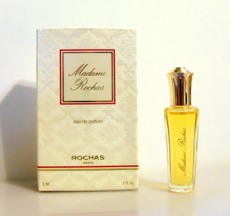 vintage 1980s madame rochas by rochas 0 1 oz eau de parfum mini miniature perfume. Black Bedroom Furniture Sets. Home Design Ideas