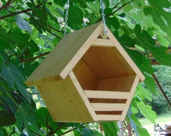 Hanging Rustic Nesting Shelter for Robins, Mourning Doves and other non cavity nesters
