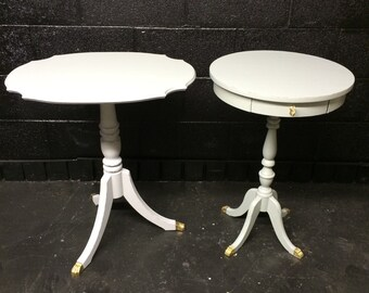 Set of Vintage Pale Gray Tables