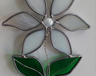 Stained Glass Daisy Suncatcher