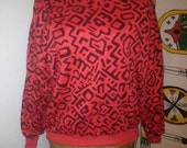 Reversible keith herring styl sweatshirt size s/m