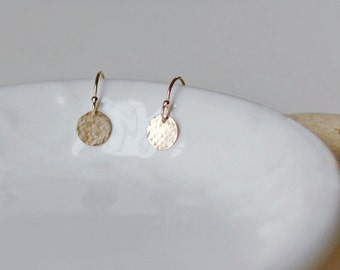 Tiny Gold Earrings, Little Drop Earrings, Everyday Earrings, Minimal Earrings, 14k Gold Fill, Sterling Silver, Rose Gold