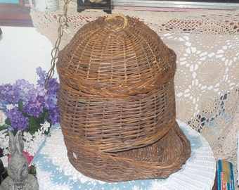 Woven Basket, Different Bigger Wicker, Rattan  Basket,Vegetable Baket ,Country Decor, Farm House Decor, Early American Decor, Storage S :)s*