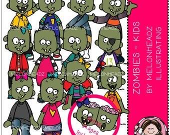 Zombies clip art - Kids - COMBO PACK