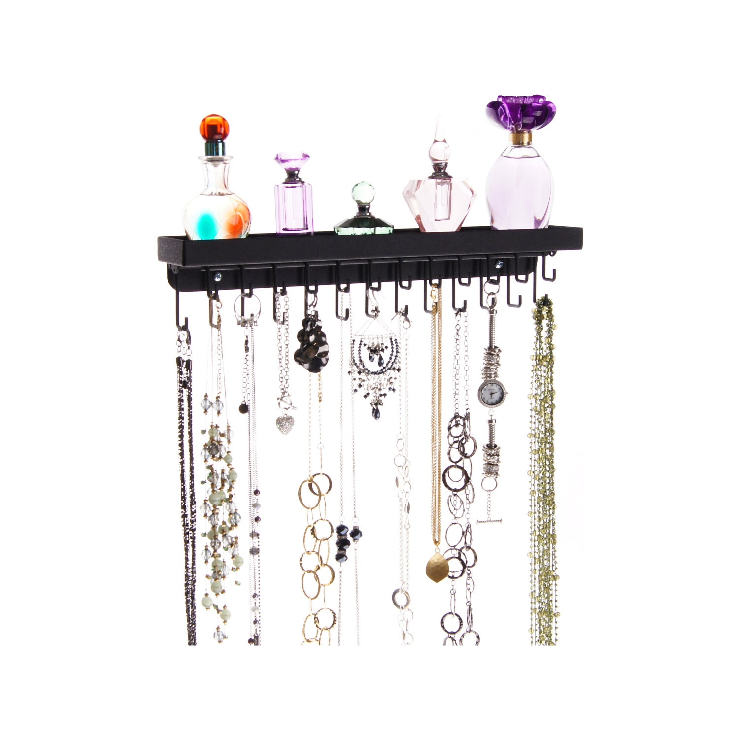 wall necklace holder jewelry display rack by