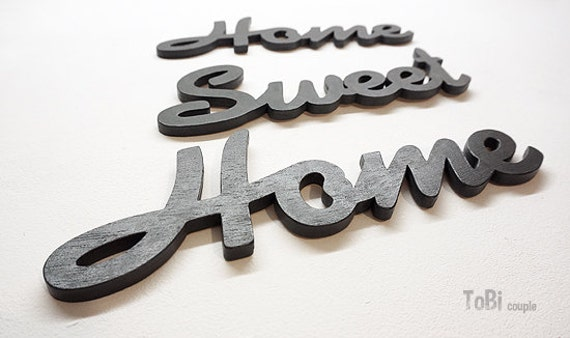 Home sweet home lettre en bois d coration de la maison for Deco home sweet home