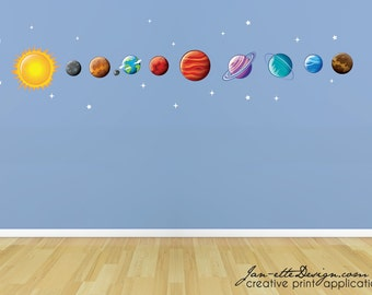 Beautiful Space Wall Decals, Planet Wall Decals, Space Wall Stickers, Outerspace Part 31