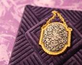 Max Factor Hypnotique Tapestry Creme Perfume Necklace - Vintage 1970s