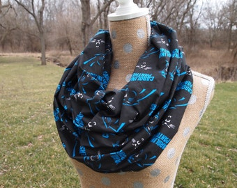 Limited Quanity!  Carolina Panthers NFL Football GameDay Infinity Scarf 10x70 Double Loop Free Shipping