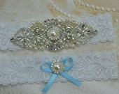 Wedding Garter Set, Bridal Garter, White Lace Garter, Vintage Lace Garter