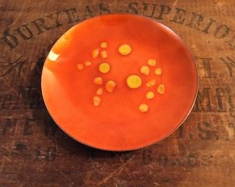Vintage Enamel Copper Plate