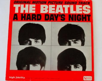 "ON SALE The Beatles - A Hard Day's Night - Original Motion Picture Soundtrack - United Artists 1964 Mono - ""I Cry Instead"" - Vintage Vinyl L"