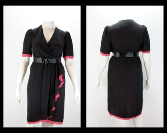 Large Dress - Cross Over Bust w Wrap Style Skirt